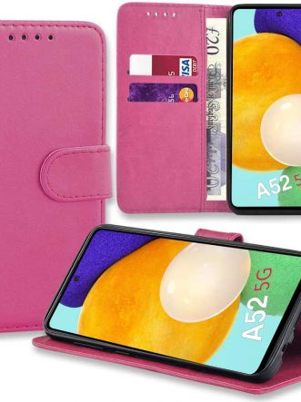 Samsung Galaxy A02S/A12/A32/A42/A52 Mobile Phone Leather Wallet Folio Book Case